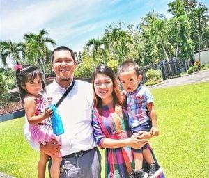 Mailene with her husband and kids