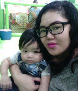 Karen Franco with Baby